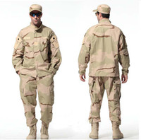 Wholesale New Paintball COAT PANTS Sand Camouflage BDU Combat BDU Uniform military uniform BDU Wargame