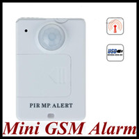 Wholesale Mini GSM Alarm Wireless Remote Control Infrared Fence Home Burglar Security Alarm System highest sensitivity in the range of mete White