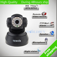 Wholesale High Quality Wireless WiFi IP Camera CMOS CCTV Security System PT Control White Black color Free Shi