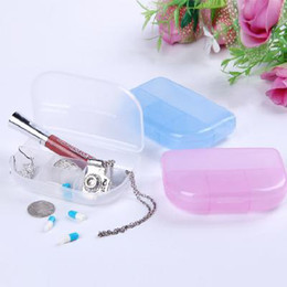 Wholesale Portable transparent grid kit storage box color randomly