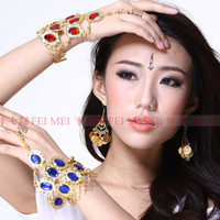 Wholesale Nine gem ring belly dance bracelet India Dance jewelry bracelet women costumes accessories chain si