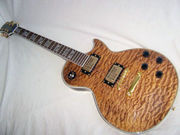 Wholesale New Brand Natural Electric Guitar Quilted Maple top