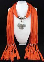 Wholesale Fashion Soft Charm Pendant Scarves Jewelry Scarves Popular Jewelry Scarf Cotton Soft Scarves Beads