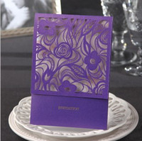 Wholesale 2013 Purple Color New Wedding Invitations Wedding Cards Wedding Favors Party Invitations