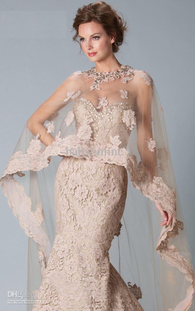 new dhgate lace bridal bolero jacket mermaid wedding dresses with