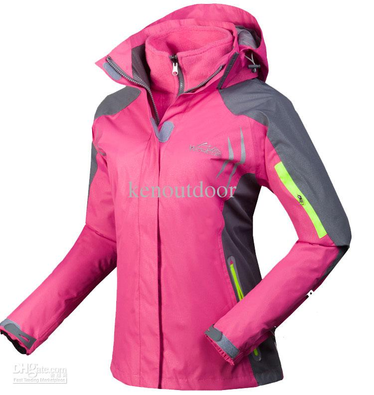 2017 Pink Snowboard Jacket Women Colorful Puzzle Snowboarding ...