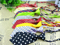 Wholesale 10pc Fashion Polyester Silk Pet Dog Necktie Adjustable Handsome Bow Tie Necktie Grooming P10