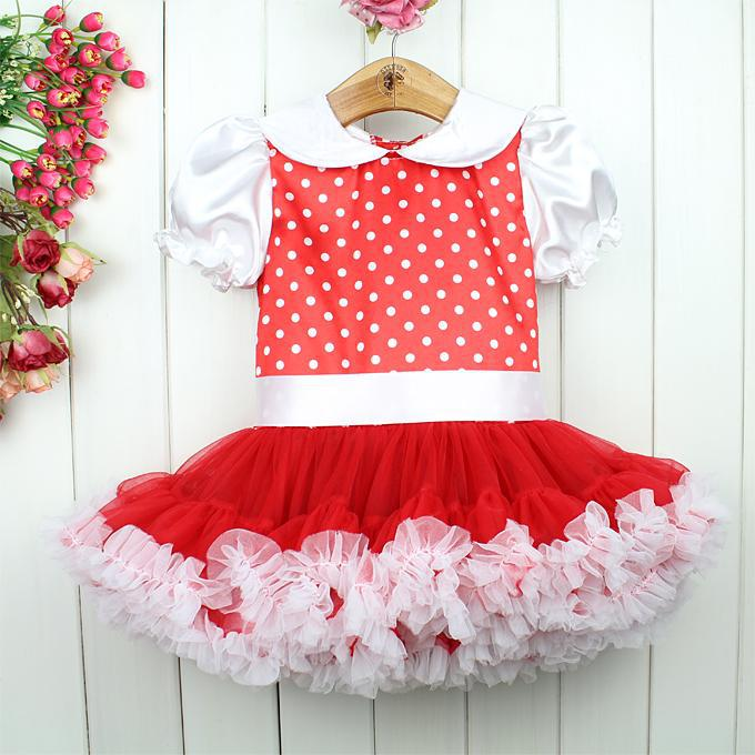 Online Cheap New 2015 Summer Kids Dress Cotton Red Dot Tutu ...