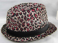 Wholesale Ladies Hats Leopard Church Hats Party Hat Women Hats Trilby Hats Bucket Hat Stingy Brim Hats Men Cap