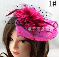 As picture Women's Party Women Feather Hair Clip Fascinator Decoration Cocktail Hair Accessory Party Feather Flower