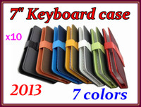 Wholesale 10pcs Colorful quot Inch leather case keyboard for quot Tablet PC Q8 Q88 RW L12