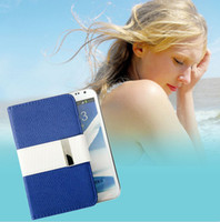 Wholesale Superior Leather Case with Card Holder for iPhone4S Samsung GALAXY S III i9300 S II i9100
