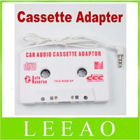 Wholesale Lowest Price mm Jack Car Audio Cassette Tape Adapter for MP3 Player CD Cell Phone White