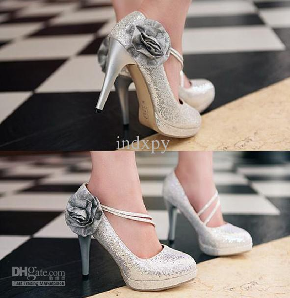 2013 best price High-heeled bridesmaid shoes silver colors shoes