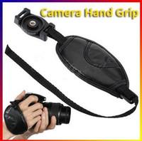 Wholesale 1PCS PU Leather Camera Hand Grip Hand Wrist Strap Belt Grip for All Canon Nikon Pentax Sony SLR DSLR