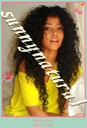 Wholesale Attractive Afro curly Brazilian hair Human hair Full Lace Wig Sunnynatural