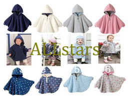 Wholesale Two sided wear Reversible baby capes jackets cloaks baby romper babies clothing infants D