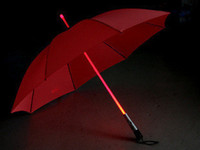 Wholesale Novelty Umbrella with LED Lights in Handle Luminous long umbrella colorful special umbrella Safety