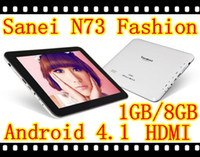 Wholesale 2G phone Android4 tablet pc inch Sanei N78 MB GB MTK6575 GHz WIFI Bluetooth dual camera