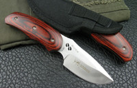 Wholesale Drop shipping BUCK Elk Survival Knife With Nylon Bag Tools Hunting camping hiking knife Knives