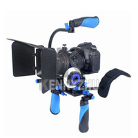 Wholesale DSLR Shoulder Mount Rig RL Quick Release Follow Focus Matte Box Top Handle Grip