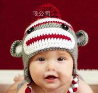 Boy hand crochet baby beanie hat - Fashion Hand Knitted Caps Kids Crochet Knit Hat Baby Cute Animal Modelling Caps Childrens Beanie Hat