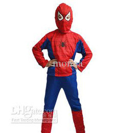 Wholesale 10pc Halloween costume party Spiderman clothing clothes child kids Spider Man suit Free Ship O H37