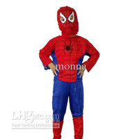 Wholesale 1pc Polyester Fiber Kids Fancy Superman Spiderman Batman Boys Hero Outfit Mask Costume H37