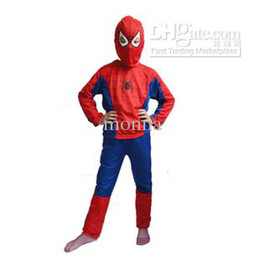 Wholesale 50pc Halloween Christmas Children s Spiderman Costumes Kid s Super Man Costumes Boy Performance H37