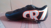 Wholesale Hotsale New CR7 Soccer Shoes Men s Outdoor Football Cleats Real Carbon Fiber Sole White Black Cheap