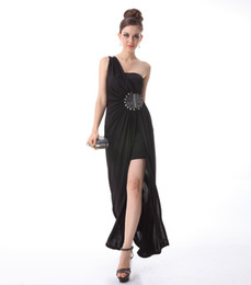 Wholesale one shoulder sheath sexy big size cocktail dresses evening dresses celebrity dresses