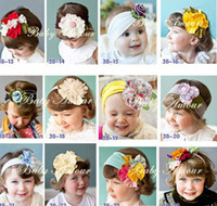 Wholesale new style baby hair decorations non woven fabrics flower girls hair band Children Hair Accessories
