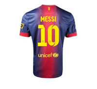 Wholesale Top Thai quality Superior MESSI Home Barcelona Soccer Jersey shirt only shirt