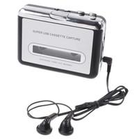 Wholesale Retro USB Cassette capture Tape to PC Super Portable USB Cassette to MP3 Player Converter Capture