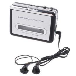 Wholesale Cassette Tape Mp3 Player - Retro USB Cassette capture,Tape to PC Super Portable USB Cassette to MP3 Player Converter Capture