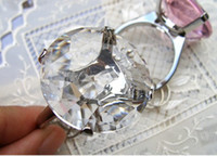 serviettes - 100pcs Kate Aspen Wedding gift party favor Ring crystal Diamond Keychain napkin serviette rings