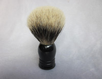 Wholesale Finest Badger Shaving Brush Faux horn Handle in black color