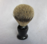 Wholesale Silver Tip Badger Shaving Brush Faux Horn Handle in black Good valentine s day Gift