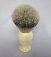 Wholesale Super SilverTip Badger Shaving Brush Faux Ivory handmade handle knot mm
