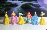 Wholesale 6 Disneyi Princess Collection Figure NEW PVC figure Princess PVC figures doll toys