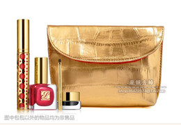 Wholesale Italian Luxury Cosmetic Make Up Bags Clutch for Women Gorgeous Golden snake and redLining