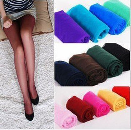 Wholesale Women s Fahion Sexy Candy Color Shiny Tights Silk Stocking Pantyhose Hot sale