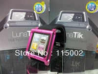 Wholesale Aluminum Nano Watch Kits Band LunaTik Wrist Strap Multi Touch mp3 Case Tiktok Lunatik For ipod