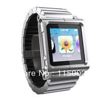 Cheap 20pcs all metal aluminum material Watch Kits Band luna tik Wrist Strap Case For iPod Nano 6