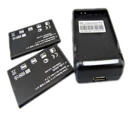 Wholesale 2x mAh JN Battery Wall Charger For LG Optimus Black P970 Optimus Q L55C Straight Talk Free S