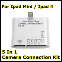 Wholesale 8 Pin Adapter for iPad ipad mini in Camera Connection USB Kit SD TF Card Reader