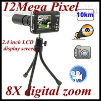 Wholesale Long Shooting Spy Binocular Camera Telescope Digital Camera DVR X digital zoom and Mega Pixel