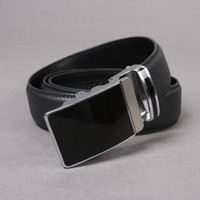 Wholesale high quality mens belts Men Auto Lock Buckle Genuine Leather quot Black Belt Career Be