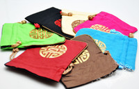 Chirstmas Jewelry Pouches,Bags  Linen Cloth Jewelry Gift Bags Wholesale Chinese Style Embroidered Packaging Bags 50pcs lot mix Free