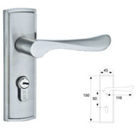 Wholesale New Small Room Door Lock Simple Lock Long Handles Pulls Safety Lock Body Lock Cylinder Door Hardware